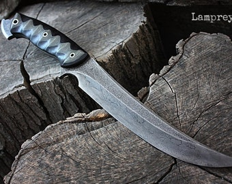"Handcrafted FOF ""Lamprey"" Full tang survival and tactical knife"