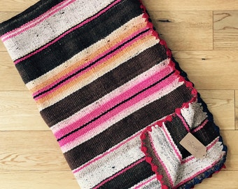 Made to Order / Customised Cushion Covers - material: handwoven Peruvian textile (Stripey Frazada/Manta/Blanket/Rug)- HANDMADE