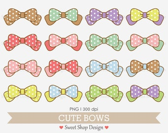 16 Bows Clip Art, Baby Shower Clip Art, Royalty Free Clip Art, Instant Download