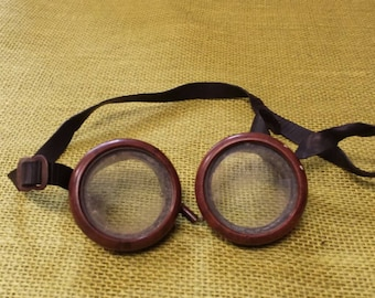 Circa 1950's Welding Goggles Safety Goggles US Made