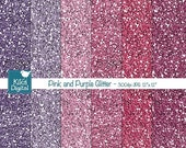 70% Sale Pink and Purple Glitter Digital Papers, Pink Glitter Papers, Pink and Purple Glitter Papers - INSTANT DOWNLOAD