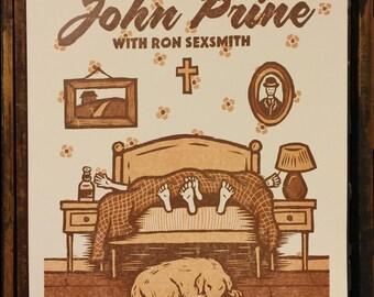 John Prine w. Ron Sexsmith Gig Poster - September 9th/10th, 2016