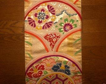 Antique obi - Floral, Brocade obi, Collectors, Prewar