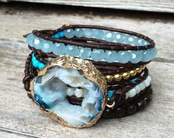 Geode Druzy bracelet/Belt