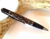 Wild Pheasant Feather Hand-Turned Gatsby Pen, Natural Brown, Tan and White Colors - GORGEOUS!