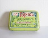 Vintage french LITTLE tin box, 1930, Retro kitchen, Antique, Home decor, Kitchen, Spices, Boite métal