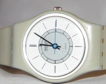 Vintage 1984 Swatch Art Deco LM103  Spring Summer Swiss Watch