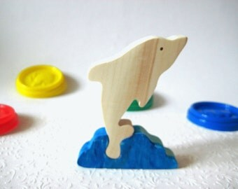 Toy Delphin. Fish puzzle decor. Wooden toys, wooden puzzle, eco-friendly handmade toys for babies, children, kids, boys and girls