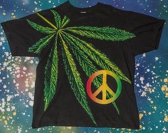 WEED 420 Peace Pot T-Shirt Size XL