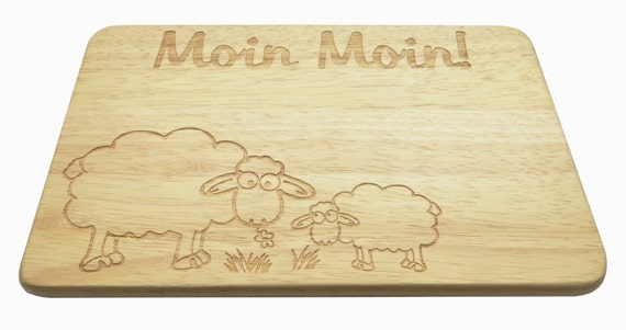 Board Moin Moin sheep engraving