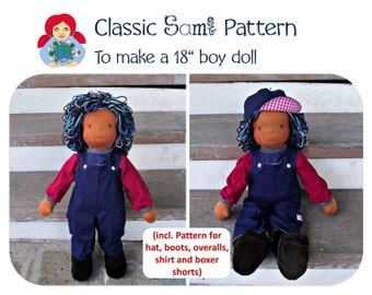 """Sami Boy Doll Pattern incl. clothes and shoe pattern to make a 18"""" doll PDF INSTANT DOWNLOAD"""
