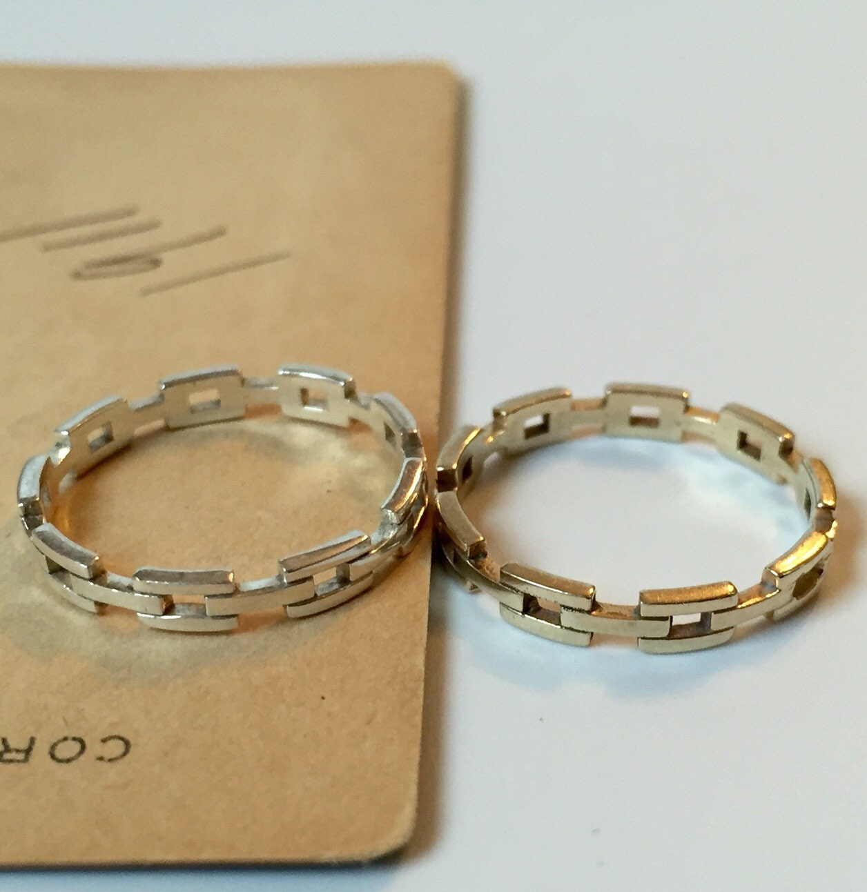 Wedding Ring On Chain Boy Or Girl: Chain Link Band Stacking Ring Wedding Band Made To Order