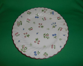 "One (1), 9 3/4"", Dinner Plate, from Johnson Bros., in the Sweetbriar Pattern."