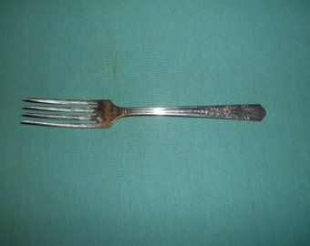 "One (1), 7 1/2"" Silver Plated, Dinner Fork, from Simeon L & George H Rogers/Oneida in the Jasmine 1939 Pattern."