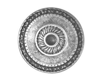 12 Toltec 7/8 inch ( 23 mm ) Metal Buttons Silver Color