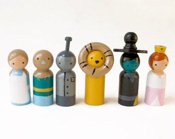 Cool Toys for Kids - Wizard of Oz - Cool Toys - Wooden Peg dolls
