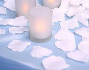 Pre-Separated White Rose Petals Faux Silk Table Scatter Petals Polyester Bright White Rose Petals Petals White Flower Petals White Petals