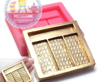 Real Size Eyeshadow Palette Silicone Flexible  Mold 744m Push Mold Gumpaste Foundant Chocolate Candy Decorated Cake Art BEST QUALITY