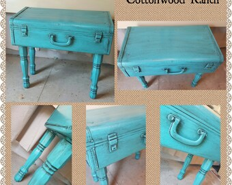 MADE TO ORDER Repurposed Vintage Suitcase Table