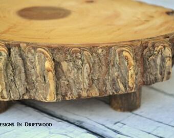 Rustic Hardwood Footed Cutting Board/Cheese Board/Bread Board - Great for Wedding Gift or Housewarming