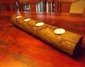 Ponderosa Pine votive candle holder