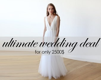 Wedding deal - Bridal dress, Bridesmaids and Flower girls dresses