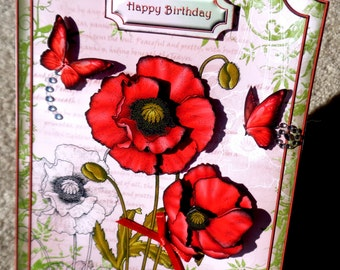 Birthday Handmade Multi Paper Layering 3D Greeting Card