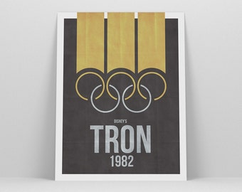 Tron ~ Minimal Movie Poster, Retro Minimalist Art Print by Christopher Conner