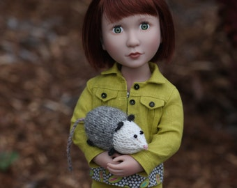 Opossum Jean Jacket Ensemble for 16 inch A Girl For All Time Doll