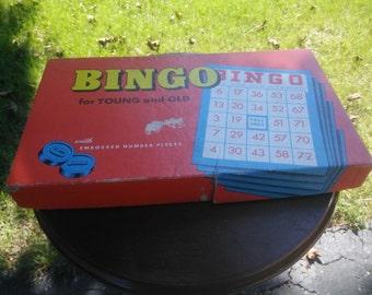 Vintage Bingo Game With Wood Bingo Numbers - Bingo
