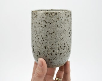 ON SALE - Speckled Tumbler - Pottery Cup - Ceramic Cup - Ceramics and Pottery - Coffee Cup - Tea Cup - Grey Speckle