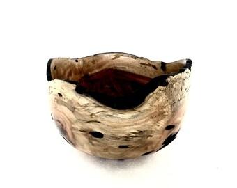 Wood Bowl No.160406- Natural Edge Carboncillo Wood