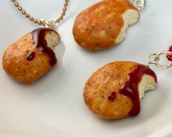 Chicken Nugget Charm Necklace