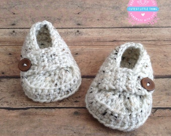 Baby Loafers, Crochet Loafers, Baby Boy Booties, Crochet Baby Shoes, Booties Baby Shoes, Oatmeal Booties, Newborn Shoes