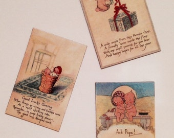KEWPIE Doll Fridge MAGNET Sets of 3: FREE Shipping! Assorted Refrigerator Magnets- Let Me Choose for You!