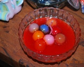 """Gobstopper Scented Candle in Glass Bowl w/lid 6"""" Smells Great Hand Made Gift idea"""