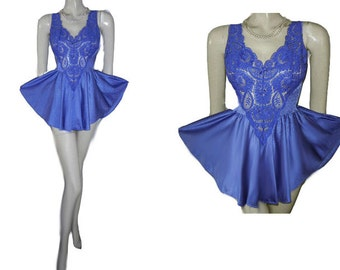 Vintage Olga Mini Lace Spandex Lace Nightgown designer nightgown 80s nightgown olga nightgown purple nightgown rare color nightgown 80s 70s