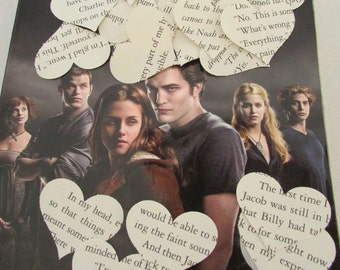 Twilight Party Confetti New Moon Eclipse Breaking Dawn 500 heart punches paper hearts
