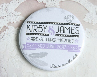HOLLYWOOD GLAMOUR design - Save the Date Magnets x 40