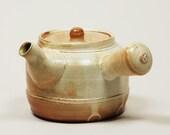 Salt fired 2 cup teapot