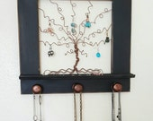Jewelry Tree Frame and Post and Stud Earring Organizer, Necklace Holder 14 inches - READY TO SHIP