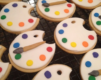 Paint Palette Cookies-Paint Party-Pottery Party-Little Artist
