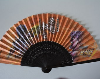 Pachislot hand fan, bamboo and paper