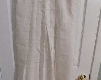 Vintage NWT White Pleated Corbin Ltd A-line Skirt Size 8 Deadstock