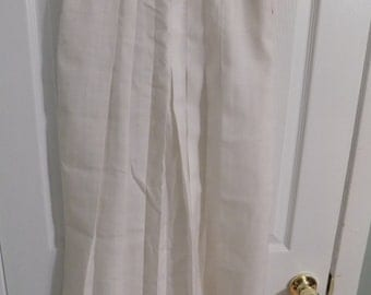REDUCED PRICE!!! Vintage NWT White Pleated Corbin Ltd A-line Skirt Size 8 Deadstock