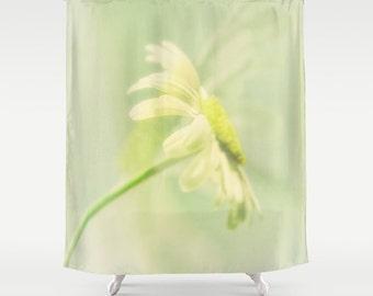 Wonderful Floral Shower Curtain | Daisy Shower Curtain | Custom Bath Decor | Extra  Long Shower Curtain