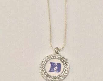 Duke blue devil charm necklace