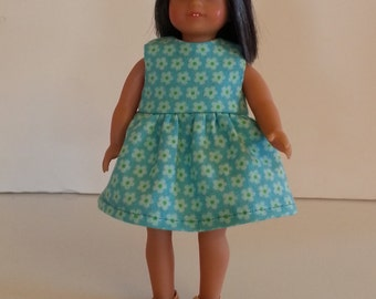 American Girl Mini Doll 6 1/2 Inch Doll Pretty Blue Aqua Floral Dress 16 cm dolls Lati Yellow Pukifee