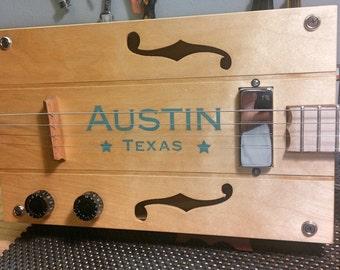 Austin, Texas  Cigar Box Guitar