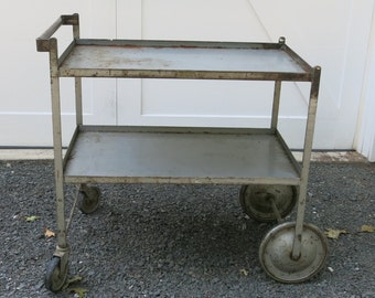 Vintage Industrial Cart Bar Cart